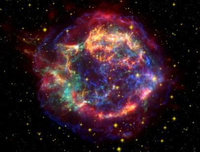 A 300-year-old supernova remnant created by the explosion of a massive star.